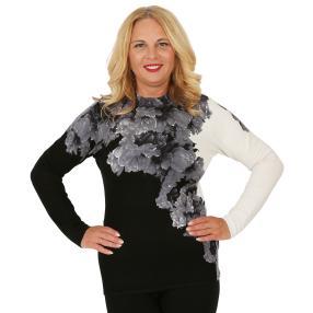 MILANO Design Pullover 'Cagnola' schwarz/weiß/grau