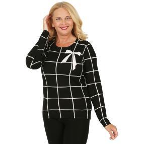 MILANO Design Pullover 'Sinzano', schwarz/weiß