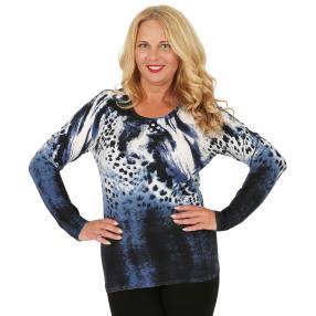 MILANO Design Pullover 'Tabiano', blau/weiß