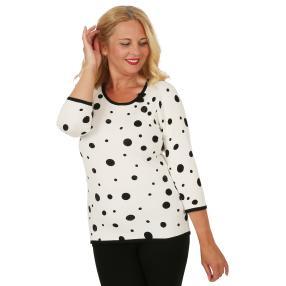 MILANO Design Pullover 'Traiano' weiß/schwarz