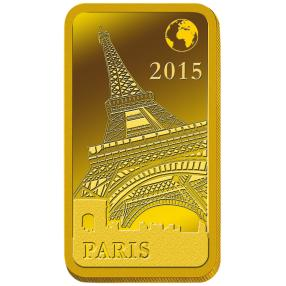 Goldbarren Paris Eiffelturm 2015