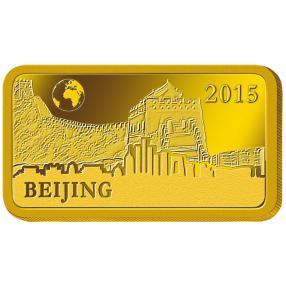 Goldbarren Chinesische Mauer Peking 2015