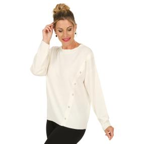 Cashmerelike by BLUE SEVEN Pullover, offwhite