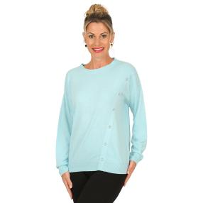 Cashmerelike by BLUE SEVEN Damen-Pullover, bleu