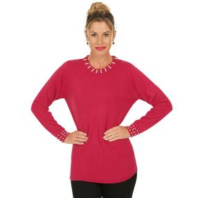 Cashmerelike by BLUE SEVEN  Damen-Pullover, beere