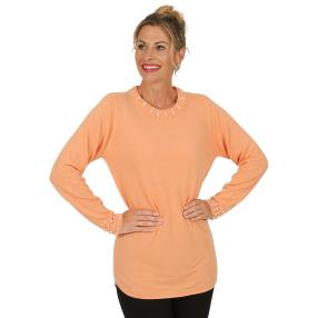 Cashmerelike by BLUE SEVEN  Damen-Pullover, papaya