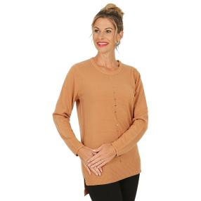 Cashmerelike by BLUE SEVEN Damen-Pullover, walnuss