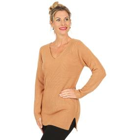 Cashmerelike Damen-Pullover, walnuss