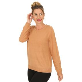 Cashmerelike by BLUE SEVEN  Damen-Pullover walnuss