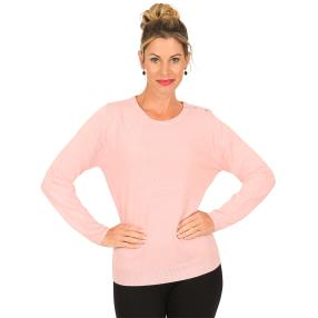 Cashmerelike by BLUE SEVEN Damen-Pullover, rosa