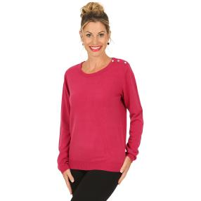 Cashmerelike by BLUE SEVEN Damen-Pullover, berry