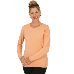 Cashmerelike by BLUE SEVEN  Damen-Pullover papaya