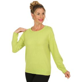 Cashmerelike by BLUE SEVEN Damen-Pullover apfel