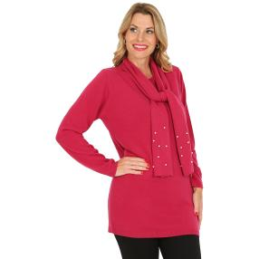 Cashmerelike by BLUE SEVEN  Pullover, Perle, beere