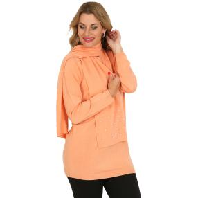 Cashmerelike by BLUE SEVEN Pullover, Perle  papaya