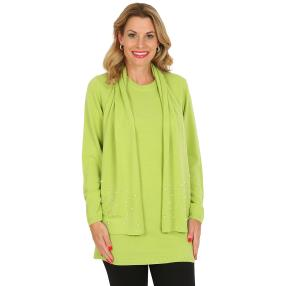 Cashmerelike by BLUE SEVEN Pullover, Perlen, apfel