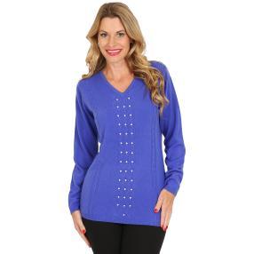 Cashmerelike by BLUE SEVEN  V-Neck Pullover blau