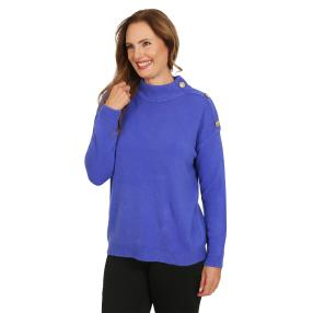 Cashmerelike by Blue Seven Damen High-Neck, blau