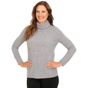 Cashmerelike by BLUE SEVEN Damen, Roll-Neck, grau
