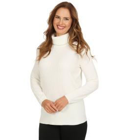 Cashmerelike by BLUE SEVEN Damen-Roll-Neck, weiß