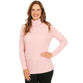 Cashmerelike by BLUE SEVEN Damen-Roll-Neck altrosa