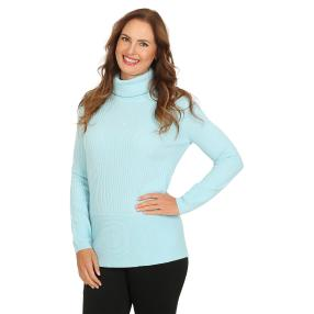 Cashmerelike by BLUE SEVEN Damen-Roll-Neck, bleu