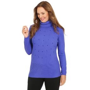 Cashmerelike by BLUE SEVEN Damen-Roll-Neck, blau