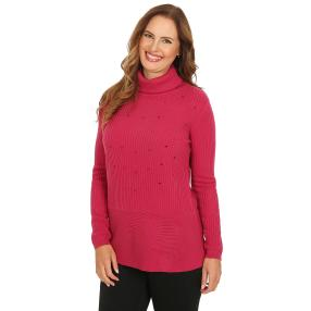 Cashmerelike by BLUE SEVEN Damen-Roll-Neck, beere