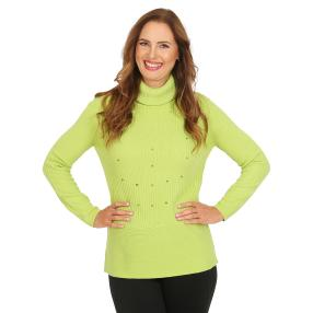 Cashmerelike by BLUE SEVEN Damen-Roll-Neck apfel