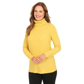 Cashmerelike by BLUE SEVEN Damen-Roll-Neck, honig