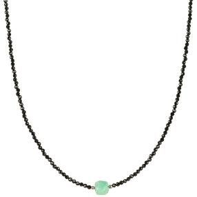 Collier Spinell + Chrysopras