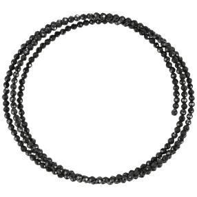 Armreif Spinell 3-reihig, schwarz