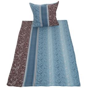 Fleece Bettwäsche 2-teilig, pertrol-blau