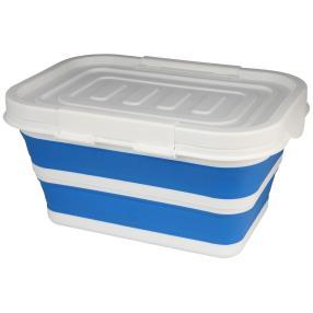 Aufbewahrungsbox faltbar blau mit Deckel 43x31x23