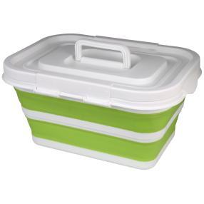 Aufbewahrungsbox faltbar grün mit Deckel 43x31x23