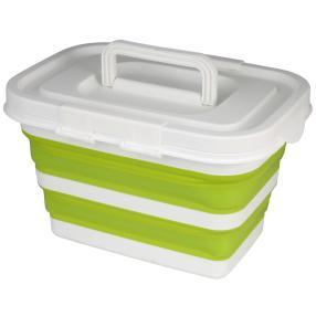 Aufbewahrungsbox faltbar grün mit Deckel 32x23x20