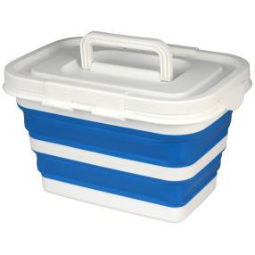 Aufbewahrungsbox faltbar blau mit Deckel 32x23x20