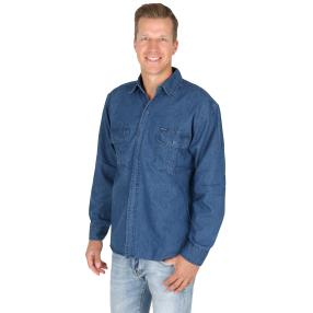 Herren-Jeanshemd 'Toni', 100% BW, dunkelblau