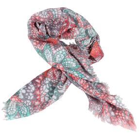 IL PAVONE Schal, grau, multicolor