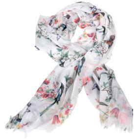 IL PAVONE Schal, Blumen &Schmetterlinge