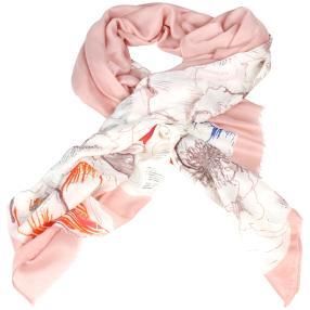 IL PAVONE Schal, orange, pink, rosa