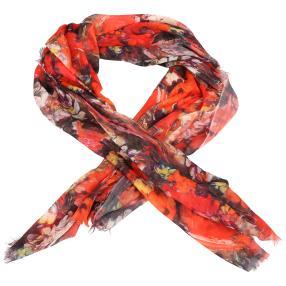 IL PAVONE Schal, multicolor, rot