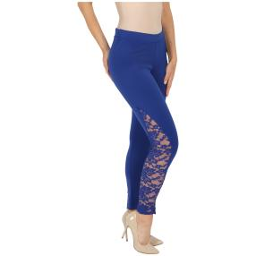 FASHION NEWS Damen-Leggins mit Spitze, royalblau