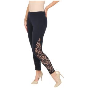 FASHION NEWS  Damen-Leggings mit Spitze, marine