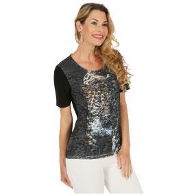 FASHION NEWS  Damen-Shirt, Spitze, beige, schwarz