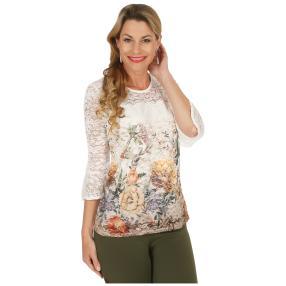 FASHION NEWS  Damen-Shirt, Spitze, 3/4-Arm