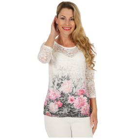 FASHION NEWS  Damen-Shirt, feine Spitze