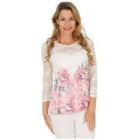 FASHION NEWS  Damen-Shirt, Spitze