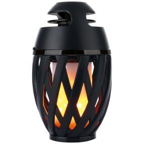 Solar-Tischleuchte Flamme mit Bluetooth, schwarz