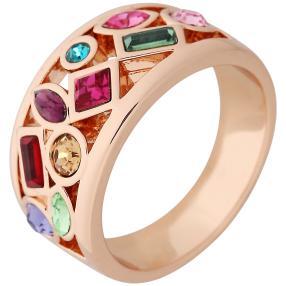 Ring Swarovski® Kristalle multicolor